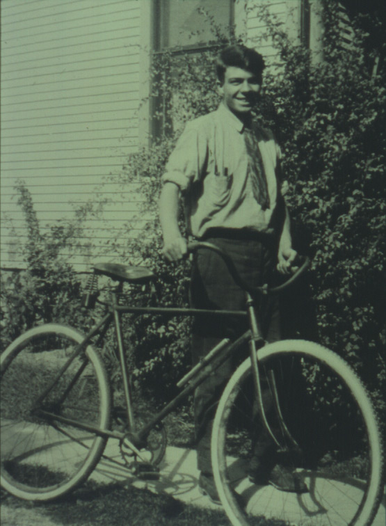Milton Erickson with bicycle